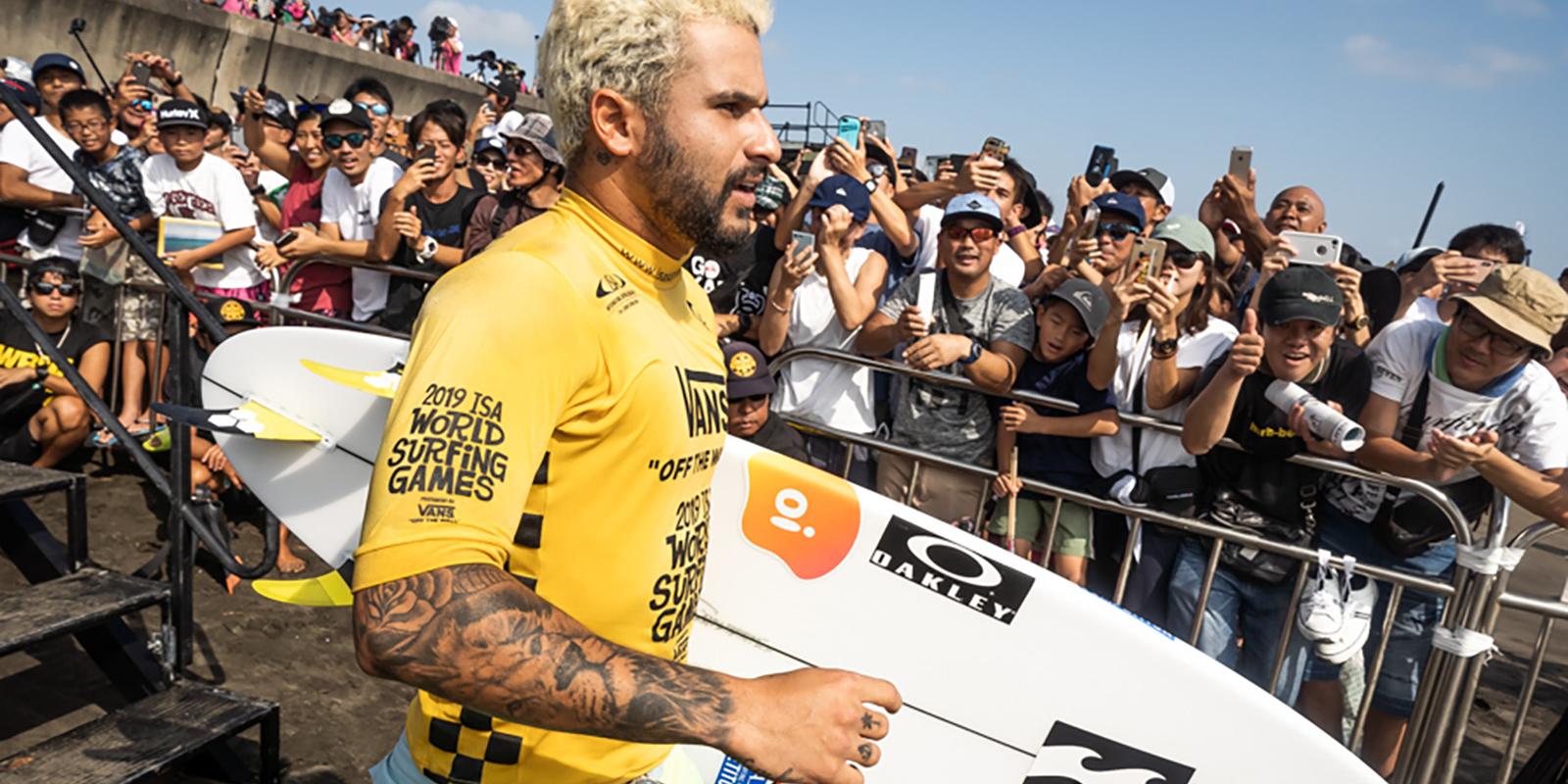 Brazil's Italo Ferreira will headline team Brazil as he defends his 2019 World Surfing Games Men's Gold Medal. Photo: ISA / Sean Evans
